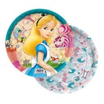 Prato 18cm Alice Disney - 08 Unidades