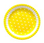 Prato Amarelo Poá Branco - 10 Unidades