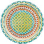 Prato de Cerâmica Sobremesa 20cm Floreal Oxford