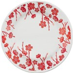 Prato de Cerâmica Sobremesa 18cm Donna Jardim Oriental Biona