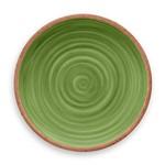 Prato de Jantar Rústico Redondo em Melamina 27 Cm Verde