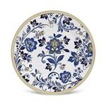 Prato de Sobremesa Flat Classic Blue Jogo com 6 Peças