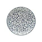 Prato Decorativo Floral 18,4 Cm Preto e Branco