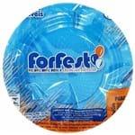 Prato Descartável 15cm Azul Claro Forfest 10 Unidades 1021609