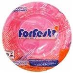 Prato Descartável 15cm Rosa Neon Forfest 10 Unidades 1021600