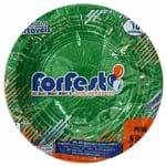 Prato Descartável 15cm Verde Escuro Forfest 10 Unidades 1022421
