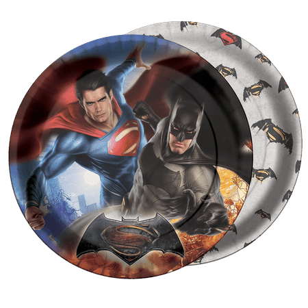 Prato Descartável Batman Vs. Superman - 08 Unidades