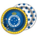 Prato Descartável Cruzeiro 8uni - Festcolor