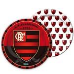 Prato Descartável Flamengo 8uni - Festcolor
