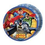 Prato Descartável Liga da Justiça 8uni - Festcolor