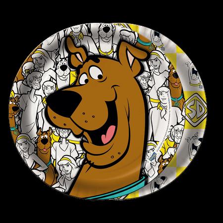 Prato Descartável Scooby Doo Novo - 08 Unidades