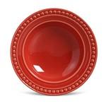 Prato Fundo de Cerâmica 22Cm Vermelho - Porto Brasil