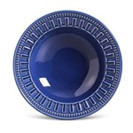 Prato Fundo de Cerâmica Parthenon 22Cm Azul Navy - Porto Brasil