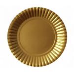 Prato Metalizado Dourado - 10 Unidades