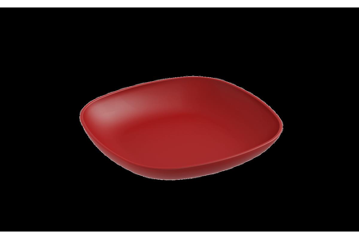 Prato Mix Essential 17,2 X 17,2 X 2,7 Cm Vermelho Bold Coza