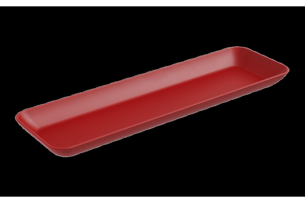 Prato Petisqueira Grande Essential 31,9 X 9,6 X 2,5 Cm Vermelho Bold Coza