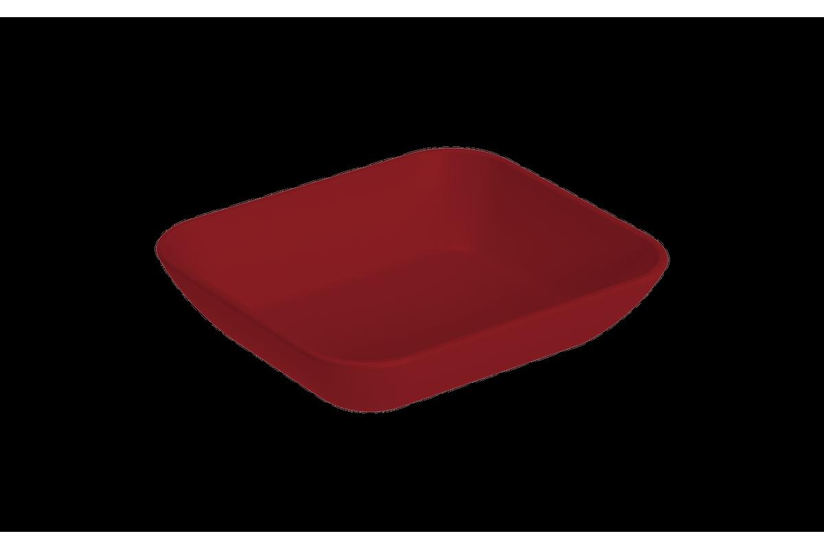 Prato Petisqueira Pequena Essential 10,2 X 9,2 X 2,4 Cm Vermelho Bold Coza
