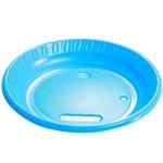 Prato Plástico Colorido - Azul Claro