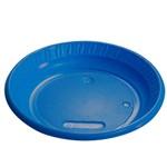 Prato Plástico Colorido - Azul Escuro