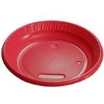 Prato Plástico Colorido - Vermelho