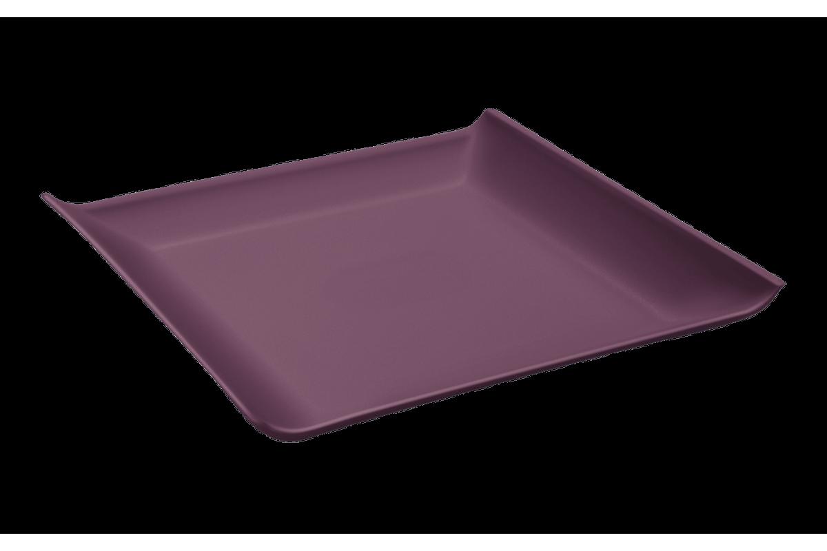 Prato Quadrado Casual Pequeno 16 X 16 X 2,5 Cm Roxo Púrpura Coza