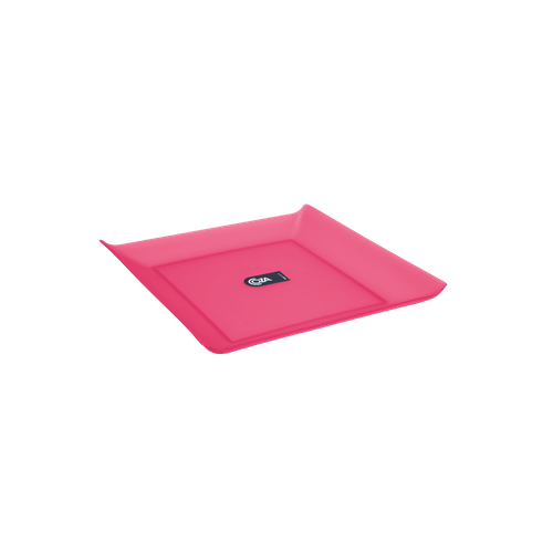 Prato Quadrado Pequeno - Mesa PP 16 X 16 X 2,5 Cm Rosa Coza