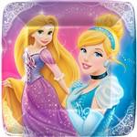Prato Quadrado Princesas - 8 Unidades - Regina Festas