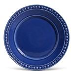 Prato Raso de Cerâmica 26Cm Azul - Porto Brasil