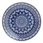 Prato Raso de Cerâmica Azul Mandala 8397 Lyor