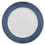 Prato Raso de Porcelana Schmidt Cilíndrica 26Cm Azul