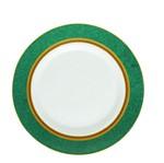 Prato Raso Opal Doha 27 Cm Branco e Verde