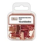 Prendedor de Papel Binder Clip 19mm Rosé com 12 Unidades Tilibra