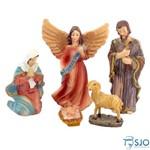 Presépio com 5 Peças - 5 Cm | SJO Artigos Religiosos