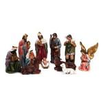 Presépio de Natal em Resina C/11 Pçs 10cm Colorido