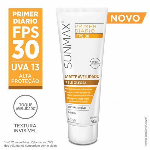 Primer Diário Sunmax Matte Aveludado FPS 30 50g