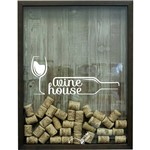 Print Porta Rolhas Wine House Betume 32x42x4cm Marrom