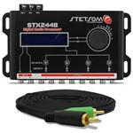 Processador de Áudio Digital Stetsom 4 Saídas Estéreo + Cabo Rca Tech One Duplo 4mm 5 Mts Preto