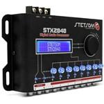 Processador de Áudio Digital Stetsom STX2848 2 Canais 8 Saídas 15 Bandas