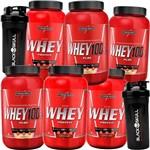Promoção Queima Estoque 3x 100% Whey Pure + 3x Whey Wei Wai Nutri Concentrado Isolado + Coqueteleira