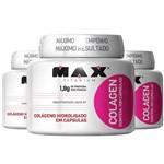 Promoção 3x Colageno Hidrolisado 100 Cáps - Max Titanium (Melhora a Pele/rugas/unha/cabelo/celulite)