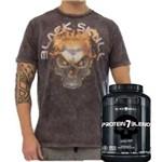 Protein 7 Blend 837gr + Camiseta Tshirt Black Skull Flame!