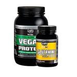 Protein Vegan - 900 Gramas - Chocolate + L-glutamine 120 Capsulas - Unilife
