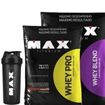 Proteína em Dobro Whey Pro 1,5 e Whey Blend 2kg (baunilha)