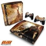 PS3 Slim Skin - God Of War 2 Adesivo Brilhoso