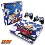 PS3 Slim Skin - Sonic The Hedgehog Adesivo Brilhoso