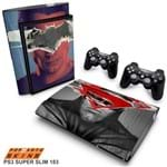 PS3 Super Slim Skin - Batman Vs Superman Adesivo Brilhoso