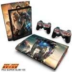PS3 Super Slim Skin - Iron Man - Homem de Ferro #A Adesivo Brilhoso