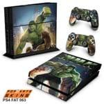 Ps4 Fat Skin - Hulk Adesivo Brilhoso