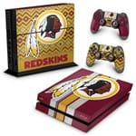 PS4 Fat Skin - Washington Redskins NFL Adesivo Brilhoso