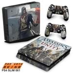 Ps4 Slim Skin - Assassins Creed Unity Adesivo Brilhoso